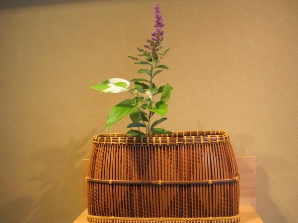 福寿園に飾られていた花かご
