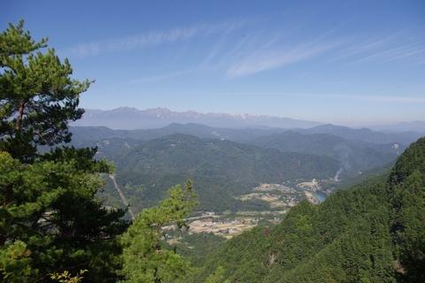 京ヶ倉頂上より北西を望む