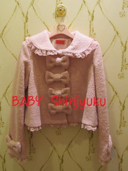 teddy ribbonジャケット ピンク