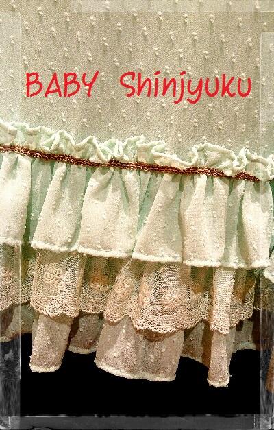 ドットシフォンワンピース 裾