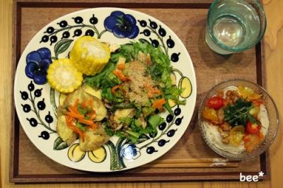 素麺とポテト