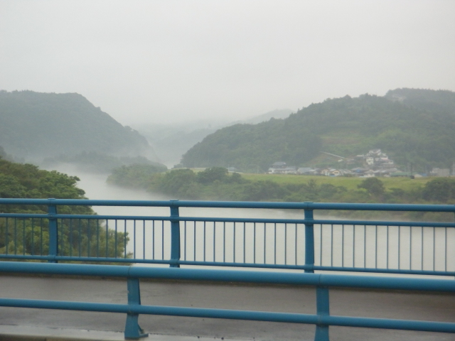 Fogs over the river at Iwate