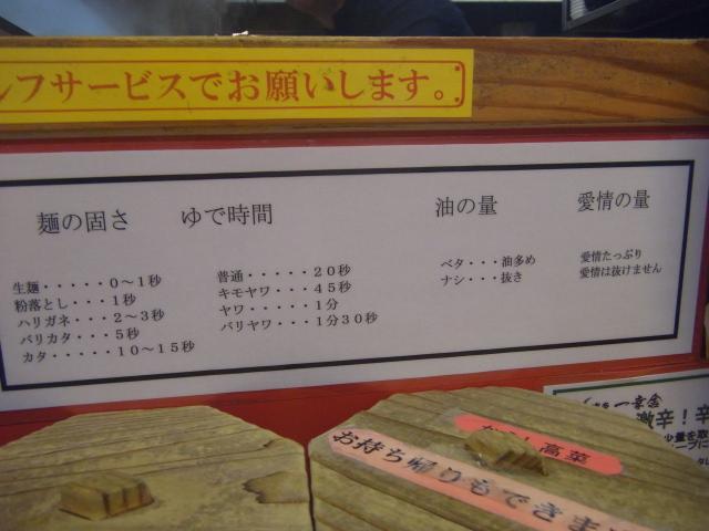 menu_of_hardness_at_Ikkousha