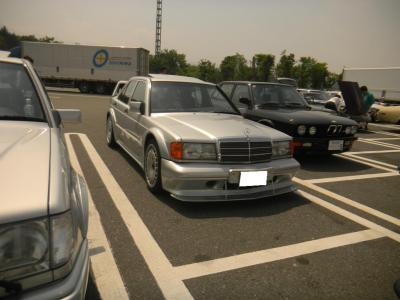 今回初参加のS氏 私加藤と同じ町内 M,Benz190E EVOⅡAMG