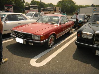 今回初参加のY氏 極上車のM,Benz450SLC