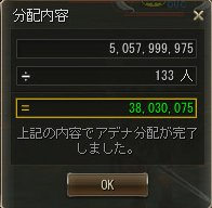 9/27 ヴァラカス分配額