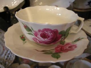 マイセン ピンクのバラ 001
