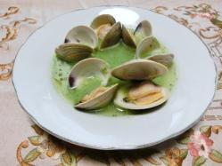 蛤とオクラのスープ