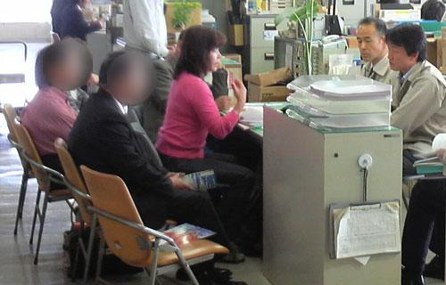 山本さん行政交渉の実践