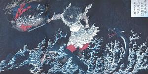 Yoshitoshi_Nihon-ryakushi_Susanoo-no-mikotoヤマタノオロチ
