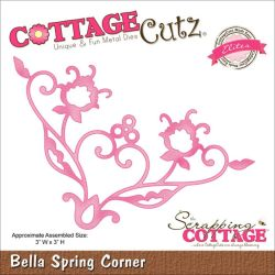 059115 CottageCutz Elites Die (Bella Spring Corner) 1295