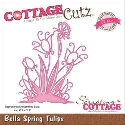 059119 CottageCutz Elites Die (Bella Spring Tulip) 1595