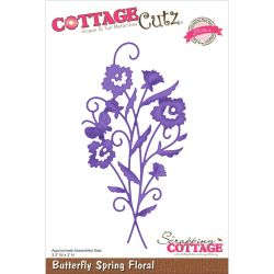 059122 CottageCutz Elites Die (Butterfly Spring Floral) 1895