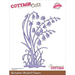 059128 CottageCutz Elites Die (Springtime Bluebell Flowers) 2495