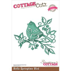 059130 CottageCutz Elites Die (Bella Springtime Bird) 2995