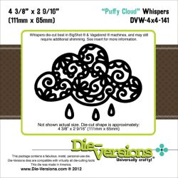 041683 Die-Versions Whispers 4X4 Die (Puffy Cloud) 2000