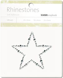 387417 Self-Adhesive Rhinestone Words (Star-Silver)