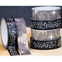 018337 [Prima] Engraver Washi (55 Yards) Fabric (1 Yard) Tape 350