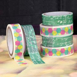 033420 [Prima] Hello Pastel Washi (55 Yards) Fabric (1 Yard) Tape 350