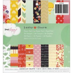 043395 [American Crafts] Dear Lizzy Lucky Charm Paper Pad 6インチ 36枚