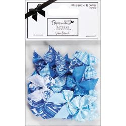 053937 [docrafts] Papermania Burleigh Blue リボン 20ピース 380円x3