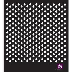 032520 [Prima] デザイナーステンシル 6インチ (Raindrops) 550円