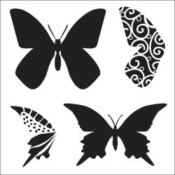 247470 Crafters Workshop テンプレート6インチ (Layered Butterflies) 525円