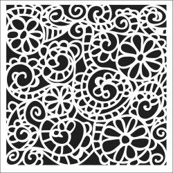 298936 Crafters Workshop テンプレート6インチ (Swirly Garden) 525円