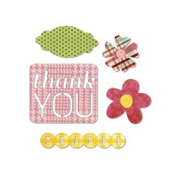 【2000円→1800円】Sizzix Thinlits Dies 6 (Thank You)
