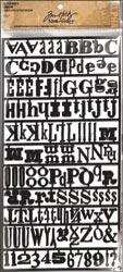 472326 [Tim Holtz] Idea-Ology アルファパーツ 159ピース (Ransom Alphas Punctuation) 800円