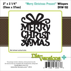 261204 Die-Versions Whispers Die (Merry Christmas Present) 1300