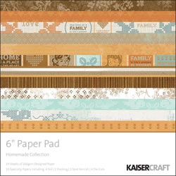 459820 [Kaisercraft] Homemade Paper Pad 6インチ 40ページ 900円