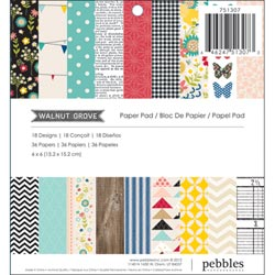 323761 [Pebbles] Walnut Grove Paper Pad 6インチ 36枚 650円
