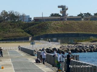 日和山浜第三突堤から新日和山へ(新潟市)