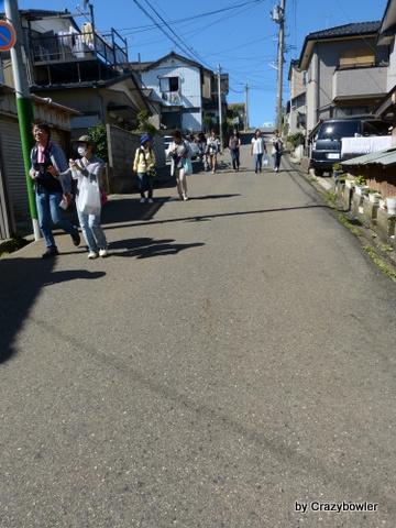 新日和山と日和山の坂(新潟市)