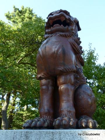 備前焼狛犬 白山神社(新潟市)