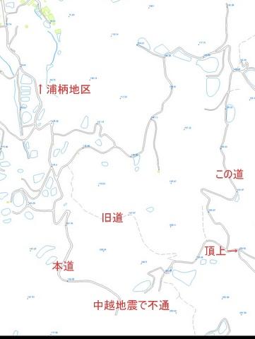 浦柄 朝日山への道