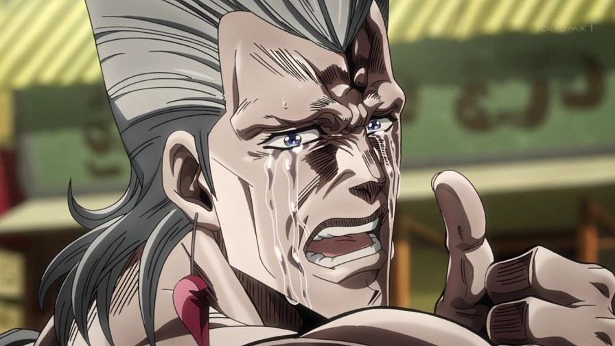 ポルナレフ泣く
