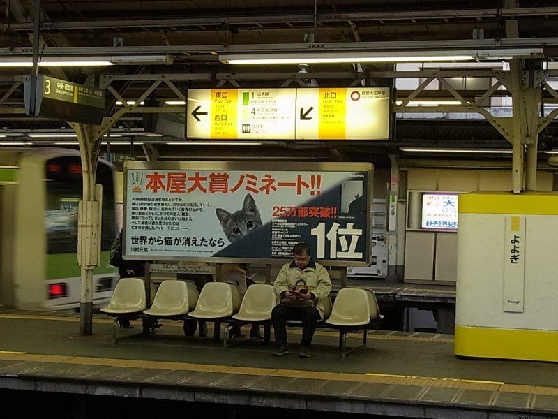 写真⑰代々木駅 駅貼り広告RIMG44796