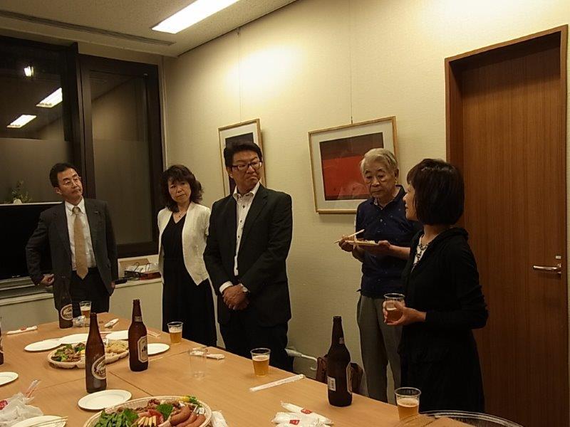 ⑦懇親会の様子 記念講演会委員参加RIMG51322