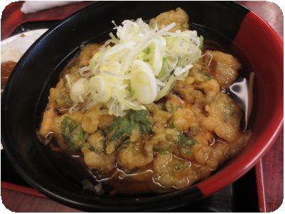 ミニカレーと天ぷらそばセット