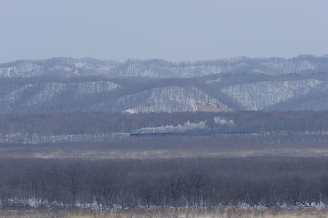 釧網本線 C11171 コッタロ展望台俯瞰