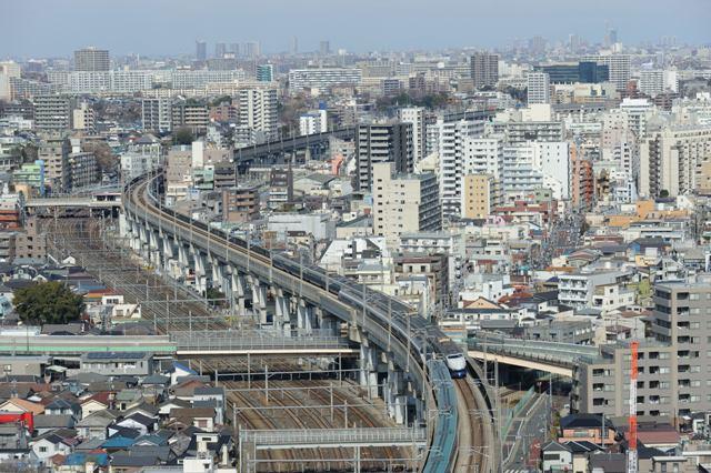 東北新幹線 200系 北とぴあ展望台