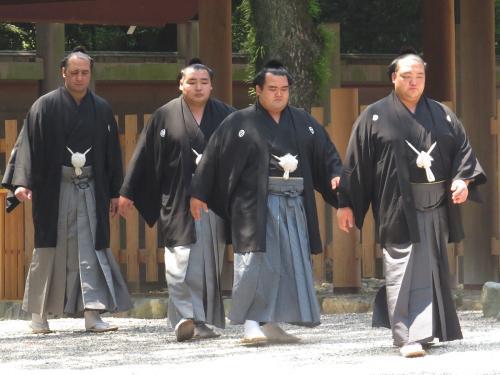 熱田神宮奉納土俵入りの四大関