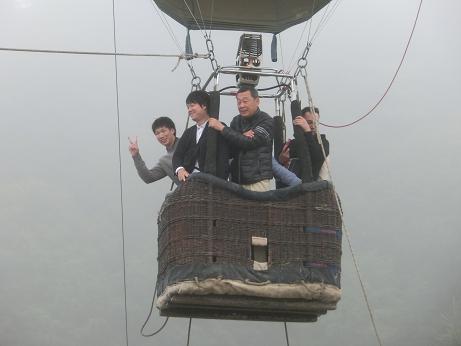 気球に乗る2