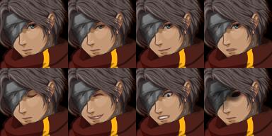 隻眼の人、表情1
