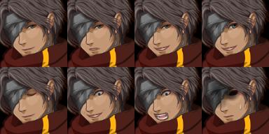 隻眼の人、表情2