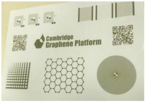 CGPが開発したグラフェンインクを使用した印刷物