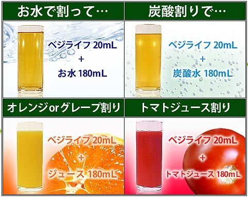 ベジライフ酵素液飲み方③