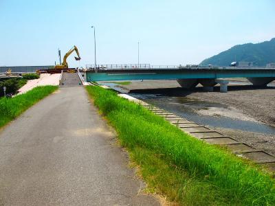 130712 用宗港ポタ 工事で通行止めの橋